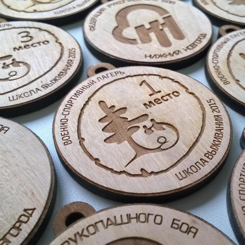 Деревянные изделия с нанесением логотипа